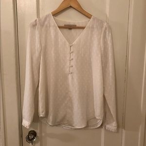 White polka dot blouse size xs